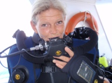 Course Director with rebreather